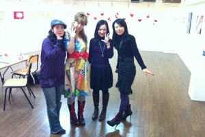 2010sioux個展-shiori,照紗、真珠子さん、sioux